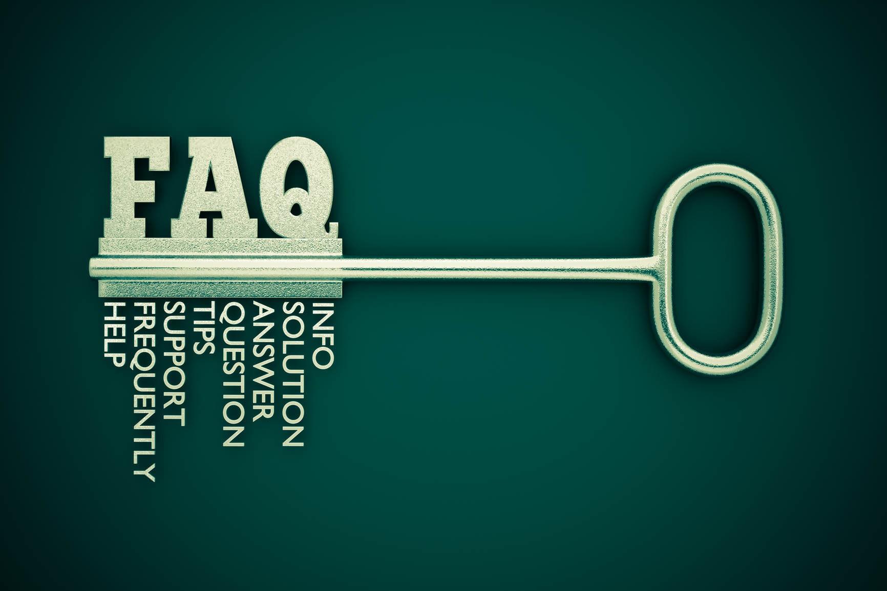 faq key green