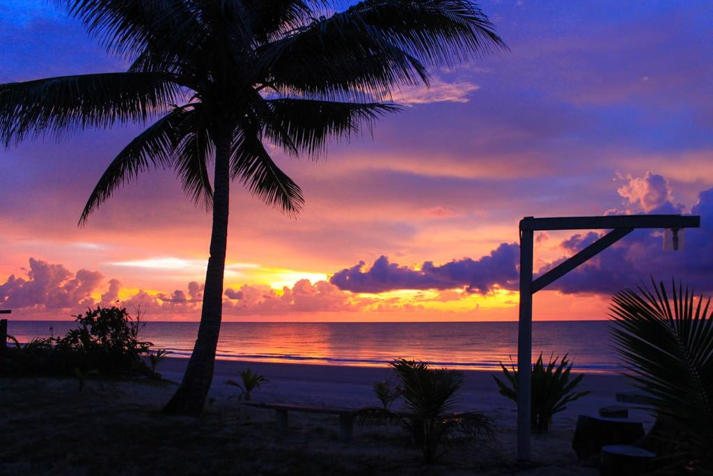 закаты на пляже