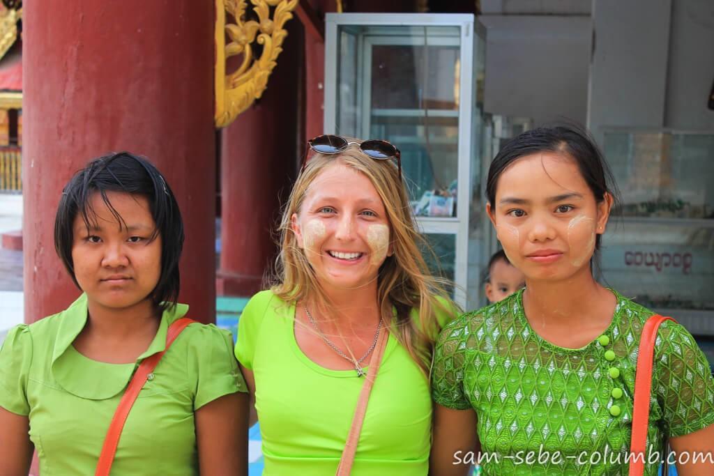 танака в Мьянме