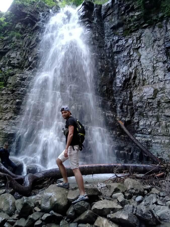 Манявский водопад в Ивано-Франковске
