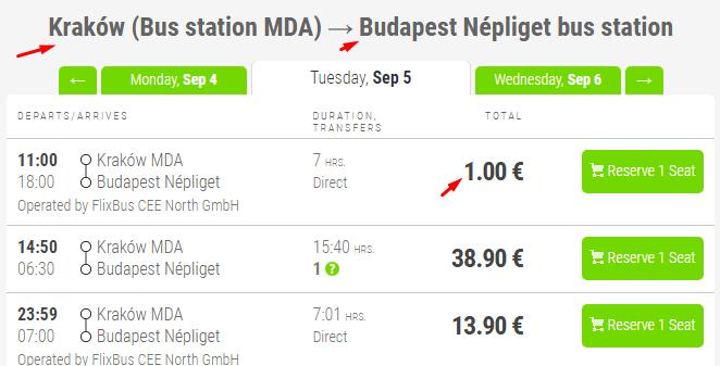 билеты в Будапешт