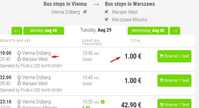билеты по Европе за 1 евро
