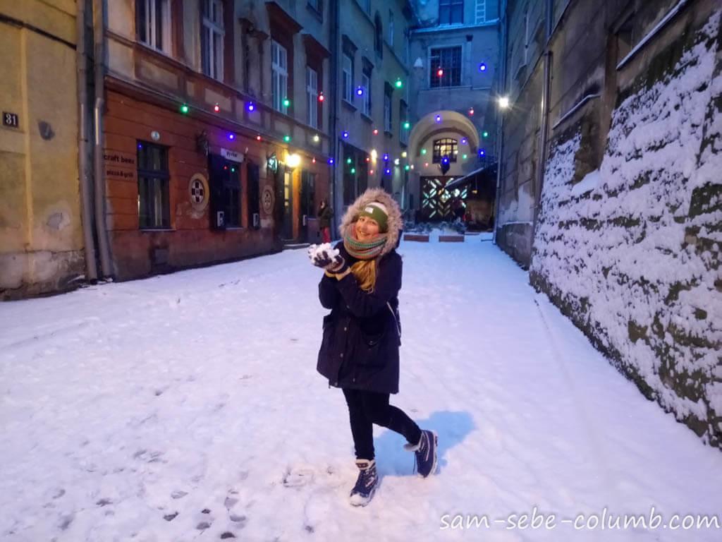 зима во Львове